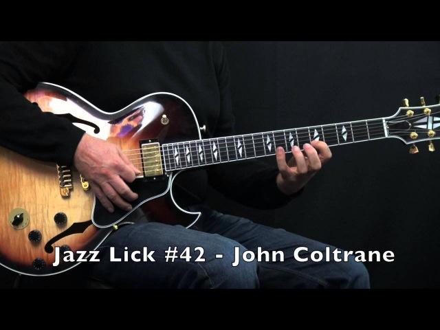 5 Bebop Jazz Guitar Licks - John Coltrane Style - Part 2 (Lick 41 - 45)