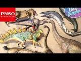 MY PSNO BIGGEST DINOSAUR TOYS UNBOXING - T-REX Basilosaurus Megalodon Mandschurosaurus