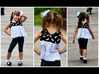 Ruffle dress / Top  - Georgina Pattern Mash up
