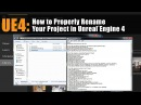 UE4 How to Rename Your Project in Unreal Engine 4 Tutorial