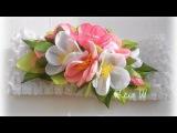 Повязка для девочки с цветами из лент, МК / DIY Headband with Flowers / DIY Kanzashi Headband /