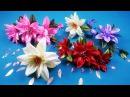 Hairpin wiht easy ribbon flowers/Horquilla con flores simples de cintas/Шпилька с цветами из лент.МК