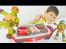 Çizgifilmoyuncakları Mikail ile Ninja Kaplumbağalar'ın mangal oyunu Türkçe izle Çocukvideo