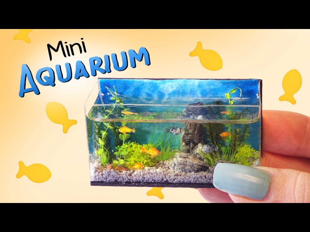 Miniature Aquarium Tutorial DIY Dolls/Dollhouse