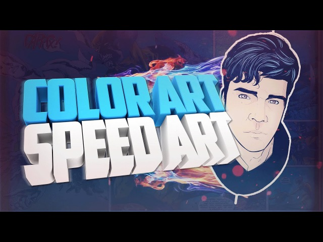 COLOR ART.SPEED ART. ЦВЕТНОЙ АРТ НА ГРАФИЧЕСКОМ ПЛАНШЕТЕ В SAI l Speed art`s