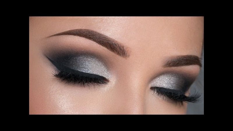 Night Out Makeup Tutorial | Black Silver Smokey Eye