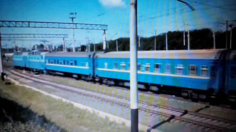 Електровоз ЧС7-293 с поездом Донецк-Днепропетровськ прибывает на станцию Донецк