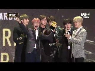 BTS Vence Best Dance Performance Male Group -MAMA 2016
