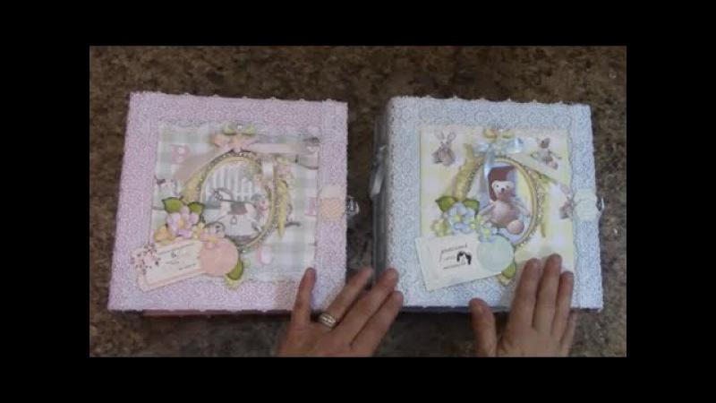 PART 3 TUTORIAL 8 X 8 BABY ALBUM BOY OR GIRL DESIGNS BY SHELLIE