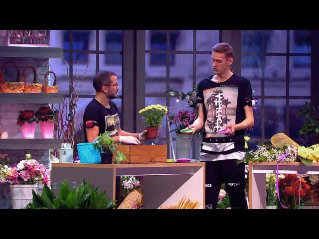 Импровизация: Покупатель и директор цветочного магазина из сериала Импровизаци...
