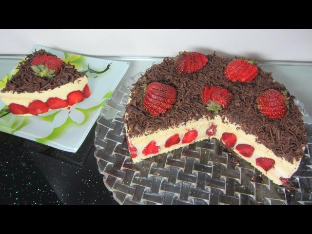 Торт с клубникой Clip công thức làm bánh kem Đà Lạt hướng dẫn cách làm bánh kem dâu tây nấu kem