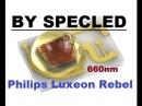 Сравнение светодиода для растений Luxeon Rebel 660нм с Epistar 660nm