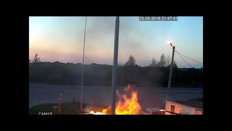 Взрыв на заправке в Псковской области попал на видео Новости НТВ
