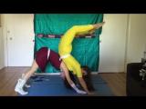 Yoga Challenge with Superheroes Dandruff Burp Girl!!