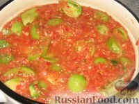 Зеленые помидоры в аджике Салат этот очень острый,