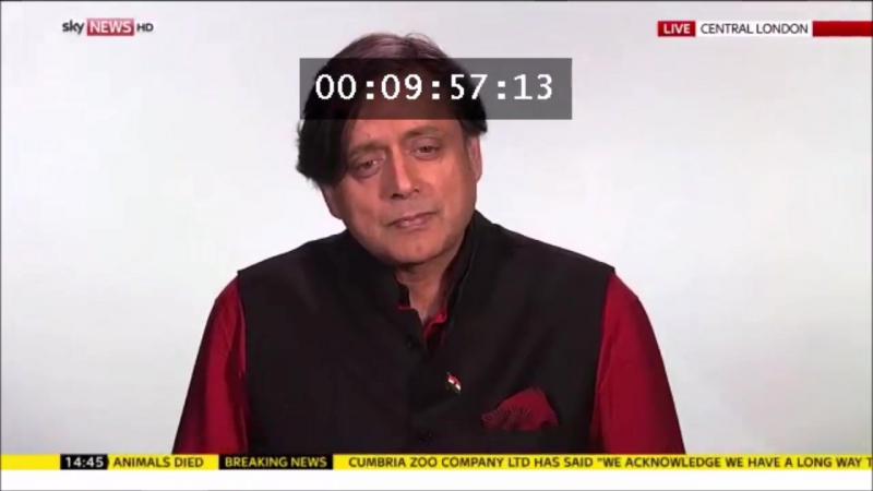 Dr Shashi Tharoor's powerful answer to Sky News interviewer about how much India did for the British