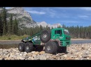 RC CWR 6X6 mountain run with dual motor setup