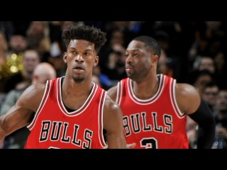Dwyane Wade (20/10/9), Jimmy Butler (18/10/10) | Bulls Win at Cleveland NBANews NBA