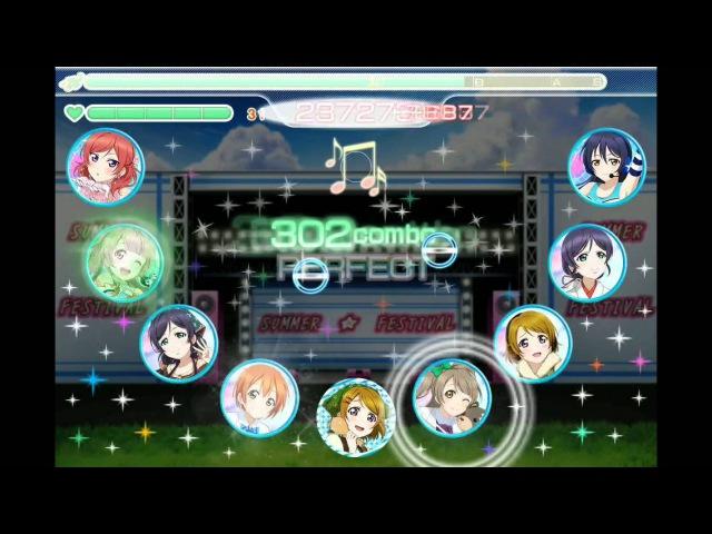 [Airserver test] Love Live! School Idol Festival game play - SCORE MATCH