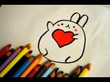 Как рисовать кролика Моланг. Моланг и Пиу Пиу сборник мультфильмов. Рисунок на 14,...