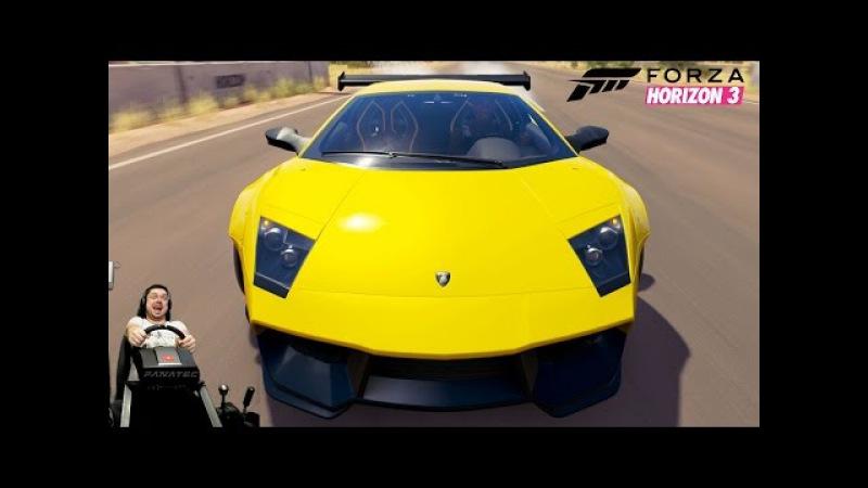 Гипербезбашенная 1450 сильная Lamborghini Murcielago LP670 4 SV Forza Horizon 3