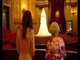 The Queen and the Duchess of Cambridge at the Buckingham Palace Wedding Exhibition