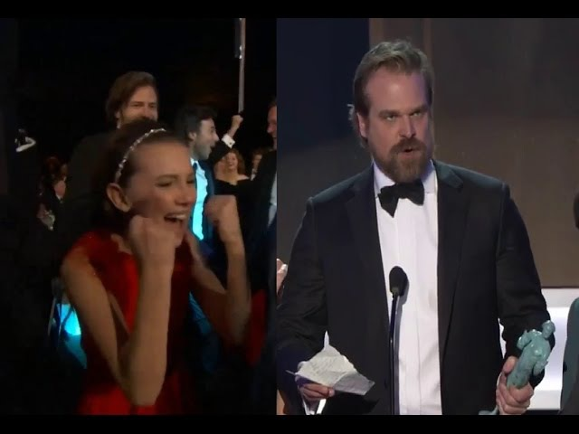 Stranger Things wins SAG Award Amazing Acceptance speech QA