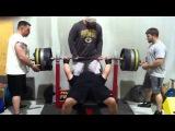 Eric Spoto 675 x 3 raw bench press