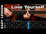 How To play Love Yourself Justin Bieber Guitar Lesson tabs ( Tutorial ) Chords