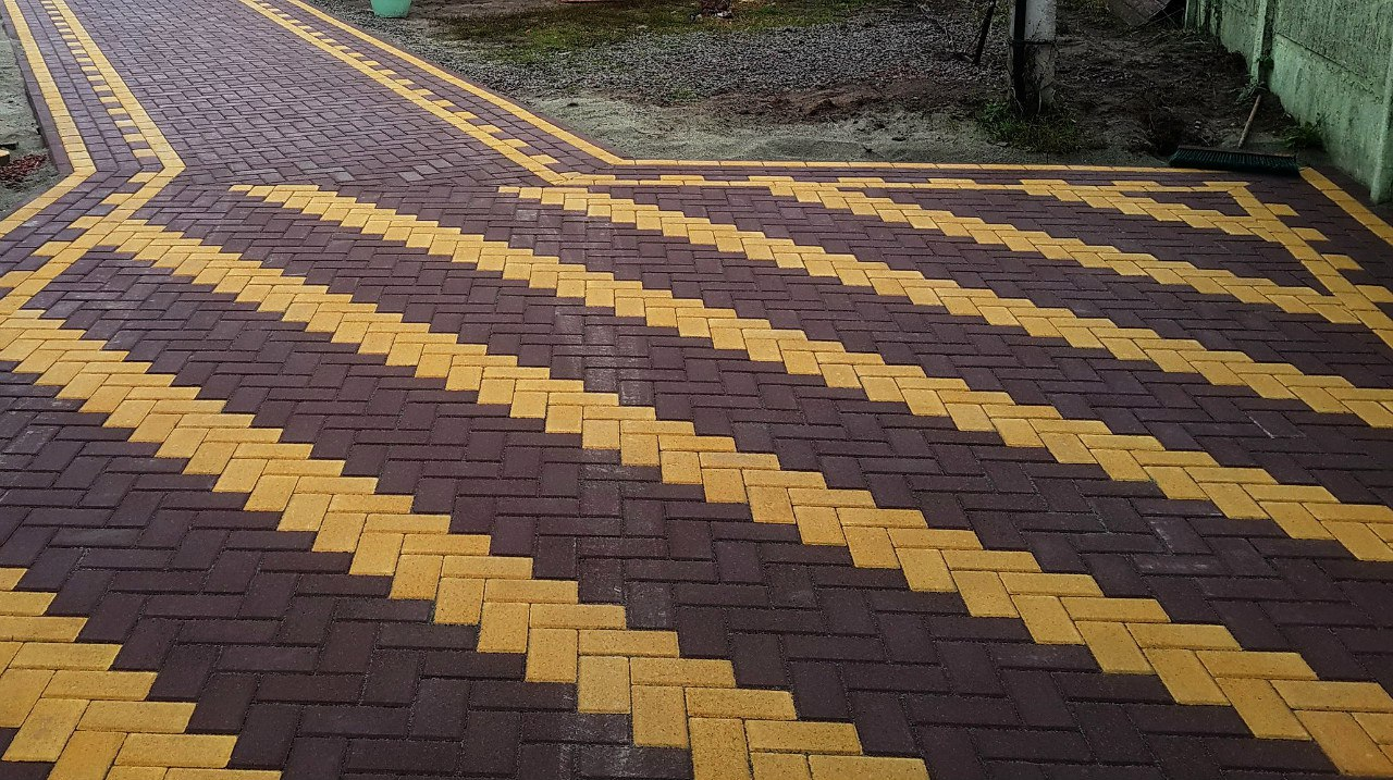 Укладка тротуарной плитки 146