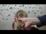 Простая и красивая прическа за 5 минут для девочек. Плетение кос.