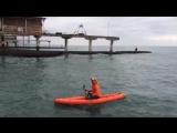 Надувной каяк Щукарь 310 на Черном море. Производство ТаймТриал