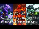 Dendi+Ditya Ra+General BIGGEST COMEBACK! Navi vs Empire - DotA2 Rage Quit