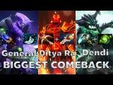 Dendi+Ditya Ra+General BIGGEST COMEBACK! Na'vi vs Empire - DotA2 Rage Quit