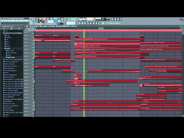 Teminite PsoGnar Senses Overload Teramite Remix Drumstep FL Studio 12 Playthrough