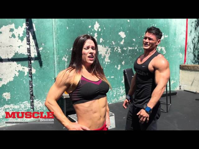 Oksana Grishina Jeremy Buendia train abs