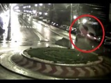 LiveLeak - Car flies over roundabound with decent airtime