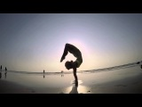 Yoga Inspiration: Beach Yoga Handstand Silhouettes in Goa, India
