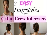Easy Hairstyles for your Cabin Crew Interview MISSKAYKRIZZ