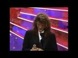 Bon Jovi - Blaze Of Glory live HQ Awards + Golden Globes 1991 Jon wins Best Original Song 1991