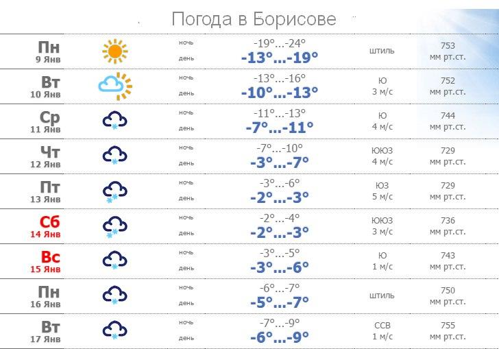 В Борисове на смену сильным морозам придут снег, порывистый ветер и метели 1