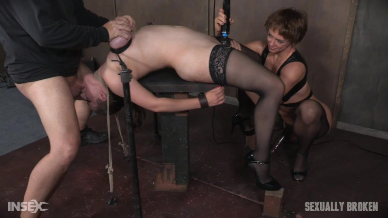 Iona Grace ( Iona Graces Big Natural Breasts Bound As She Is Throatboarded and Made to Cum Part 1, BDSM,