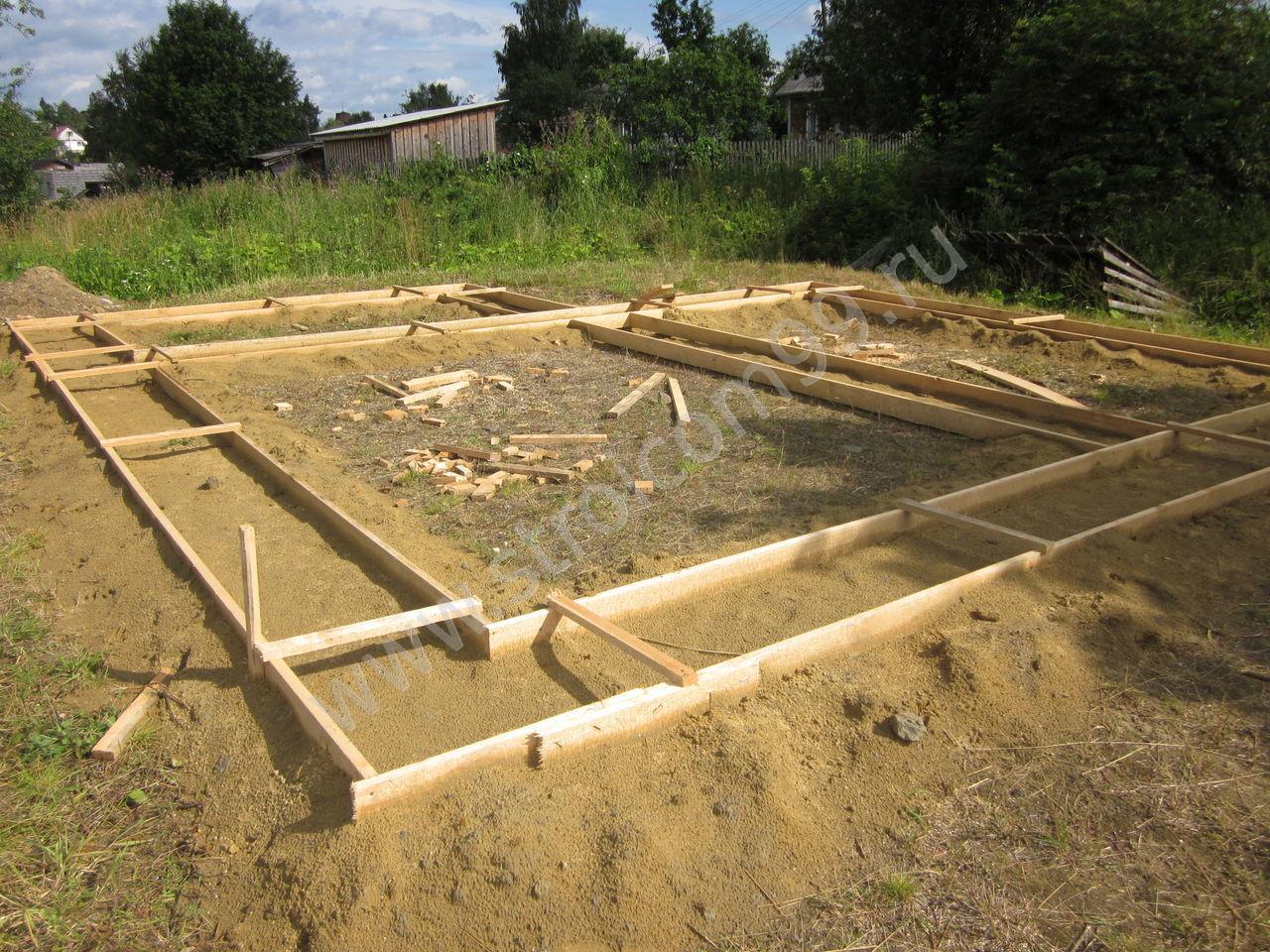 Заливка фундаментов в Сортавале