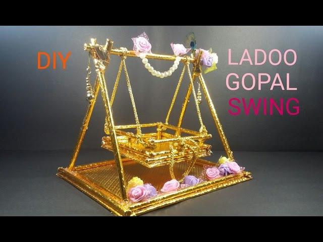 DIY LADOO GOPAL SWING KULFI STICK JHULA HOW TO MAKE CWM 7