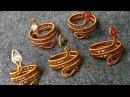 Tutorial wire snake ring - cách làm nhẫn hình con rắn 38