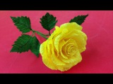 How to Make Rose Crepe Paper Flowers - Crepe Paper Craft Flowers - Online Learning