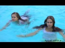 Two girls swimming fully clothed HD
