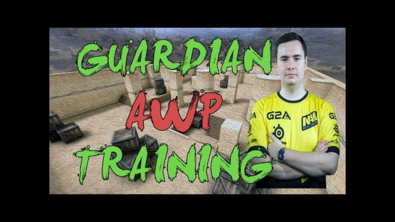 CSGO: Pro Training Na'Vi GuardiaN AWP training on awpcup_map2