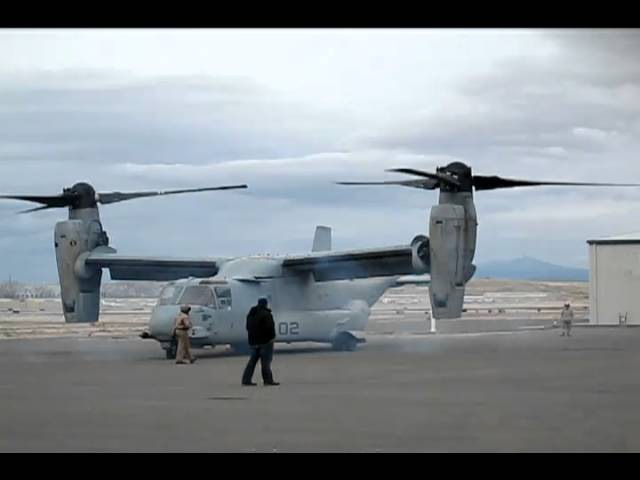 V22 Osprey Startup and Takeoff