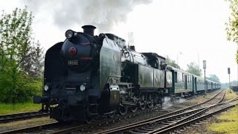 Parní lokomotiva 464 008 Výletní vlak k audienci u Karla I. /Steam Locomotive/ 29.4.2017